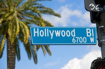 Hollywood-Straßenschild