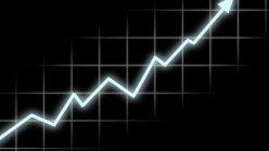 Ein Diagramm welches für steigenden Erfolg steht