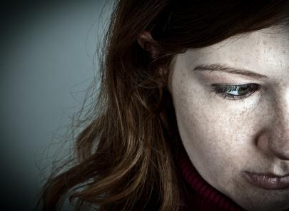Frau hat Depression