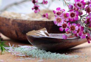 Ein Salzpeeling für Körper und Lippen