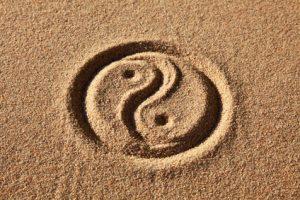 Yin & Yang in Sand