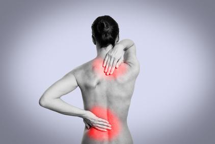 Schmerzzonen am Rücken