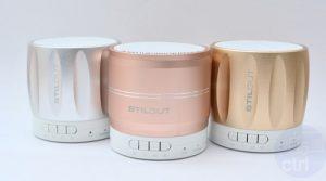 Tragbare Lautsprecher von StilGut in drei Farben